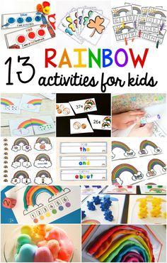 These free rainbow bear sorting mats help kids learn to identify colors (colours). Kids in preschool and kindergarten can sort the counting bears by color. Rainbow Activities, Science Activities, Activities For Kids, Spring Activities, Color Activities, Weather Activities, Kids Math, Science Fun, Language Activities