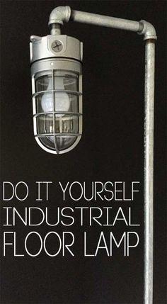 DIY Industrial Lámpara de pie