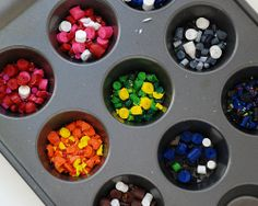 Activity for Air Element (Whirlwind's Rainbow of Doom Crayon Cups).  Have kids fill mini muffin liners and adults will cook while they enjoy party - pop them in favor bags at end of party for kids to take home with them.
