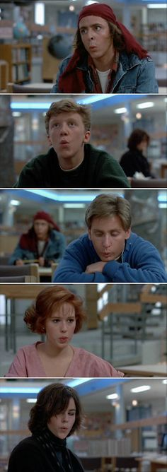 Breakfast Club- definitely in the top ten for my favorite movies