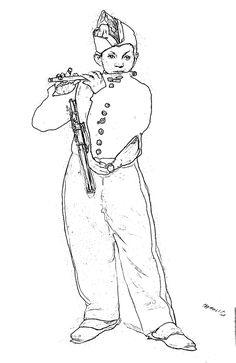 D'après Edouard Manet : Le fifre (1866)