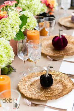 Make this fall season magical and memorable! Use debi lilly design™ velvet pumpkins to create a homey and elegant look at your next event.