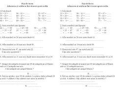 EDUCATIA CONTEAZA : ADUNARI SI SCADERI (0-1 000 000) - CU SI FARA TRECERE PESTE ORDIN / EXERCITII / PROBLEME / INMULTIRI SI IMPARTIRI / UNITATI DE MASURA / FIGURI GEOMETRICE Geometry
