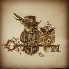 Steampunk owls