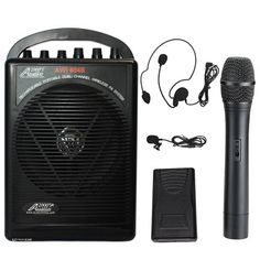 Audio2000s Wp-604b/hl Battery Powered Dual Channel Wireless Microphone Portable Pa System Audio2000s $99