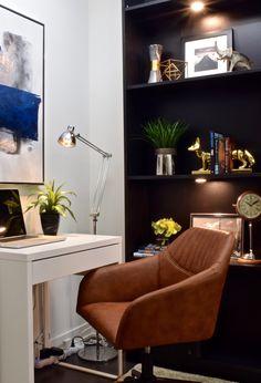 Modern condo design. Design collaborators: Reyes & Co. Design Studio and Samantha Concepcion Designs Egg Chair, Reyes, Contemporary Interior, Office Desk, Lawn, Condo, Lounge, Interiors, Projects