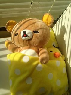 "iheartrilakkuma: "" Rilakkuma & Kiiroitori cr: san-x fb "" Kawaii Plush, Cute Plush, Hamster, Cute Stuffed Animals, Ideias Diy, Kawaii Shop, Mellow Yellow, Aesthetic Pictures, Plushies"
