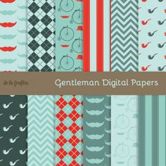 Gentleman Digital Papers by Delagrafica on Creative Market