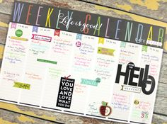 HELLO Weekly Planner Pad by mambi Deisgn Team member Candi Billman | me & my BIG ideas