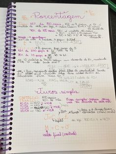 PORCENTAGEM E JUROS Study Help, Study Tips, Mental Map, Math Notes, Study Planner, School Notes, Study Inspiration, Studyblr, Study Notes