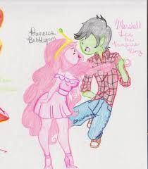 princess bubblegum and marshall lee - Google Search Marceline And Bubblegum, Princess Bubblegum, Marshall Lee, Paisley Pattern, Adventure Time, Suede Leather, Pink, Vibrant, Google Search