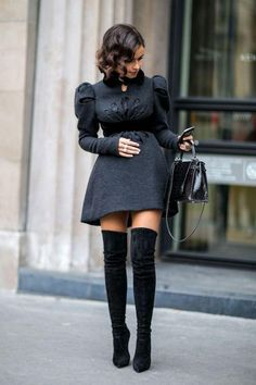 How to wear Knee High Boots #style #shoes #fall/winter