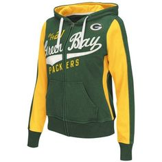Green Bay Packers Womens Point After Full Zip Hoodie – Green
