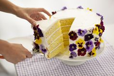 Edible Flower Cake | Brit + Co.