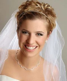 Wedding Updo for Very Short Hair- Wedding hair updos