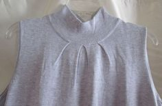 Joseph A Brand Large Pullover Sleeveless Gray Mock Turtle Pleated Under Neck   #JosephA #pullover #Casual