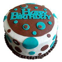 Eyes love it, so you do.. :D lovely.. Vibrant Birthday Cake #Cakes #Birthday
