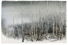 Untitled by Lars Lerin Landscape Art, Landscape Paintings, Photo D Art, Pretty Pictures, Pretty Pics, Watercolour Painting, Watercolours, Watercolor Techniques, Snow
