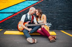 Ally & Kyle   Engagement Shoot   Engagement Photography   Engaged   RINO District   Denver, Colorado   Downtown   Vintage Style   Street Art   musicians   guitar   Couples Photos   Romantic   Tayler Carlisle Photography   tayler.carlisle@gmail.com   www.taylercarlisle.com  