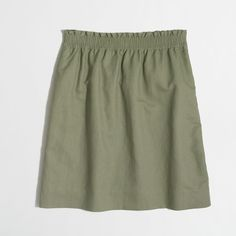 J.Crew Factory linen-cotton sidewalk skirt ($40) ❤ liked on Polyvore featuring skirts, cotton elastic waist skirts, linen skirt, j. crew skirts, long cotton skirts and long green skirt