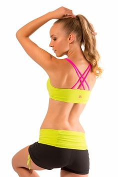 Let's Tango Sports Bra in Lime