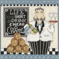 Cheap Wine Cross Stitch Kit £27.00 | Past Impressions | Design Works