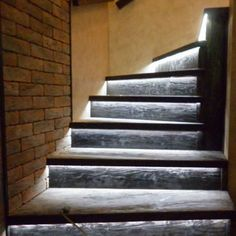 Automatic Stair Lighting: Automatic light stairs with motion sensors, Automatic lighting, Illumination of stair steps, Installation options, Lighting installation. Outdoor Stairs, Stair Lighting, Stair Steps, Light Installation, Landscape Lighting, Smart Home, Interior And Exterior, Lights, Ladder