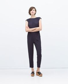 Image 1 of LONG JUMPSUIT WITH GATHERED BACK from Zara