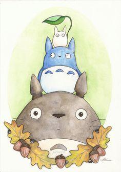Totoro and Friends. Studio Ghibli Inspired 6 X 4 Print. Artwork by Jade Jones