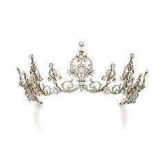 carolathhabsburg: Diamond tiara. Circa 1900s Via Sothebys.