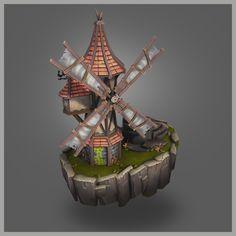 ArtStation - Medieval Windmill, Umer Memon