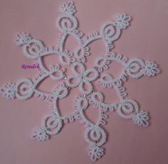 Tatting, Tatting, Chiacchierino: snowing, snowing, sleigh bells are ringing ... (motif with pattern)