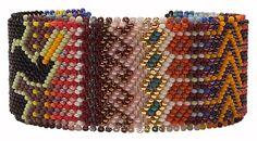 """Sioux Beadwork Bracelet: """"Peyote Stitch"""" Medium Bracelet"""