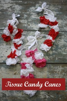 tissue paper candy canes - happy hooligans
