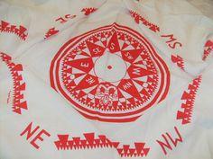 MARGUERITA MERGENTIME Tablecloth Vintage by FourSistersCottage, $78.00