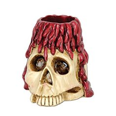 Pack of 6 Halloween Spooky Skull with Candle Drippings Tea Light Holder Party Decorations 6 oz >>> Click image to review more details.