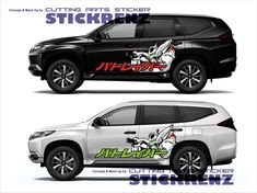 Car Custom Side Cutting Sticker Concept - Pajero 009