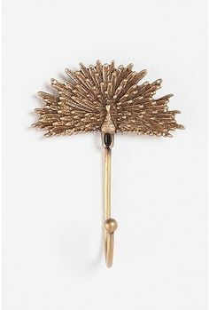 Peacock gold hook (would look amazing on my blue office wall) $12