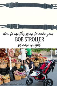 BOB jogging stroller hack -- using a connector strap to adjust the recline so that your child can sit more more upright and be more comfortable.  Plus a review of the stroller by a non-jogging NYC mom.  Stroller strides.  jogging stroller.  fit mom.