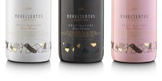 I love this noveientos packaging- perfect colors/wine selection for a pink/black wedding