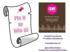 Repin by 7:00 pm CST on 3/5/12 to win a complimentary copy of the @CRAVEFort Worth 1st Edition Guidebook.    Includes a 2 page feature of 100 women owned business in Fort Worth, Texas and the surrounding area.    Compliments of Profiled Business Owner: Kimberly O'Neil