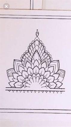 Mandala Tattoo Design, Geometric Mandala Tattoo, Henna Mandala, Henna Tattoo Designs, Mandala Drawing, Tattoo Ideas, Hand Tattoos, Lotusblume Tattoo, Cuff Tattoo