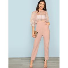 To find out about the Floral Lace Bodice Tailored Jumpsuit at SHEIN, part of our latest Jumpsuits ready to shop online today! Tailored Jumpsuit, Pink Jumpsuit, Lace Bodice, Fashion Quotes, Short Skirts, Floral Lace, Going Out, Leggings Are Not Pants, Swimwear