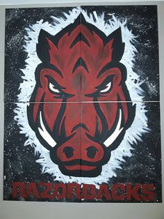 Check out this item in my Etsy shop https://www.etsy.com/listing/464968154/officially-licensed-arkansas-razorback