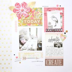 Welcome in my craftroom - Scrapbooking Layout