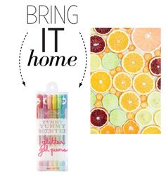 """Bring It Home: Scented Gel Pens"" by polyvore-editorial ❤ liked on Polyvore"
