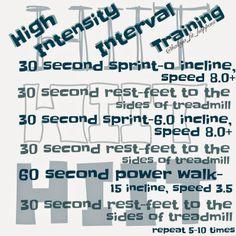 HIIT. treadmill workout. IG: @haleya_fit_happens