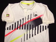 f1e1f6d13 Original Vintage NIKE CHALLENGE COURT Andre Agassi Tennis Polo Shirt Mens M  *EUC in Clothing