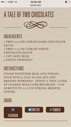 Torani dark chocolate sauce coffee recipes