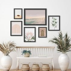 Artwork Prints, Framed Artwork, Framed Art Prints, Ocean Artwork, Gallery Wall Frames, Modern Picture Frames, Floral Wall Art, Coastal Decor, Modern Coastal